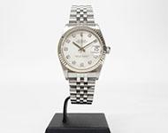 ロレックス デイトジャスト 68274G K18WG×SS 10Pダイヤ ボーイズ時計