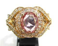 K18ピンクゴールド ピンクサファイヤ 1.327ct 指輪