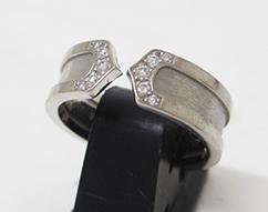 カルティエ K18WG C2リング ダイヤモンド