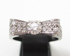 シャネル K18WG×ダイヤ リュバンドゥシャネル 指輪