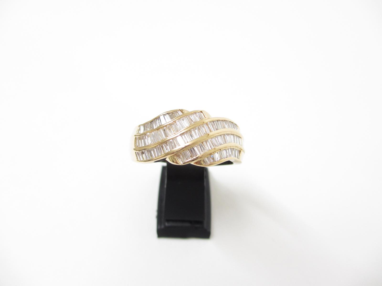 K18YG(18金) 指輪 ダイヤモンドリング D/1.00ct