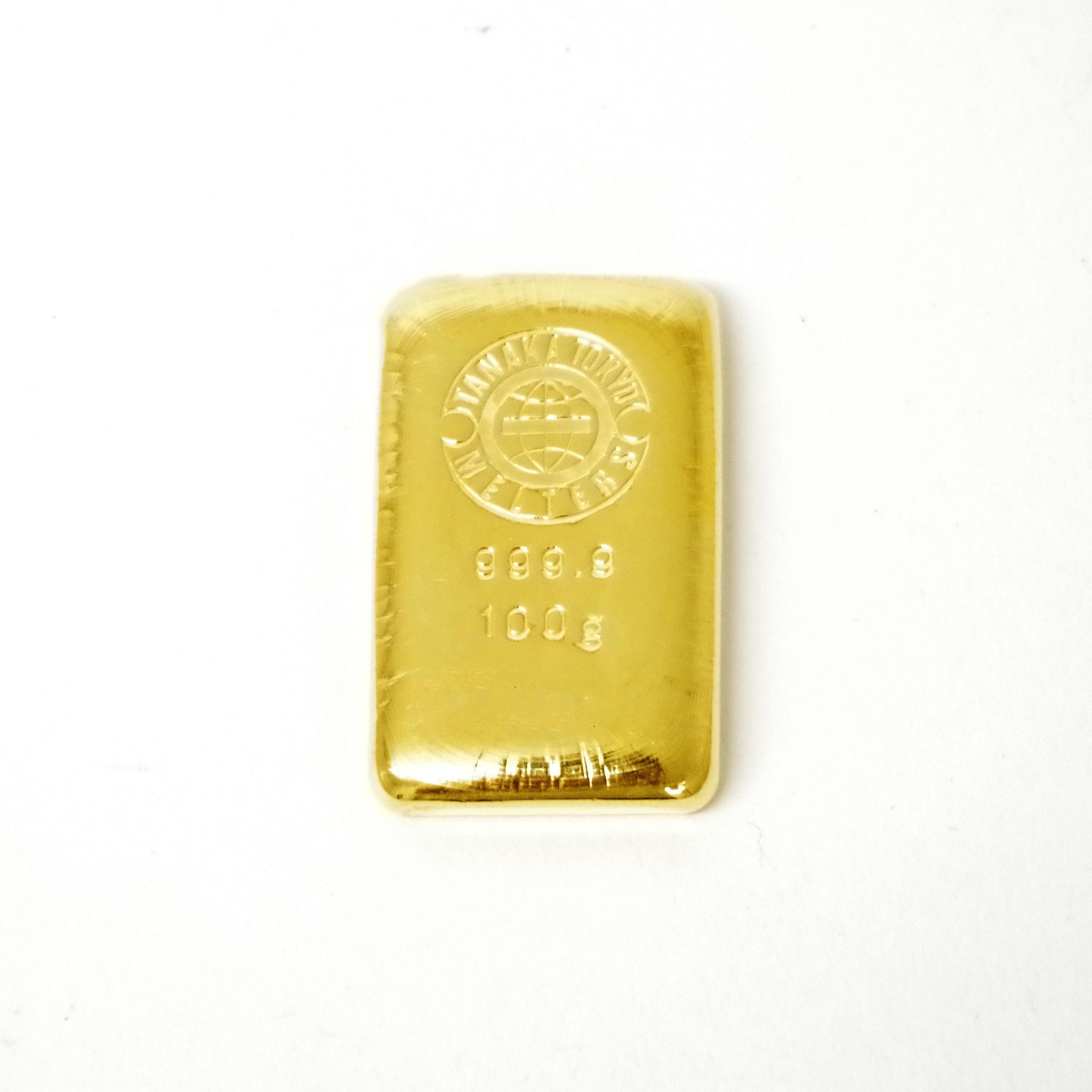 田中貴金属 純金 K24 24金 インゴットバー 100.0g
