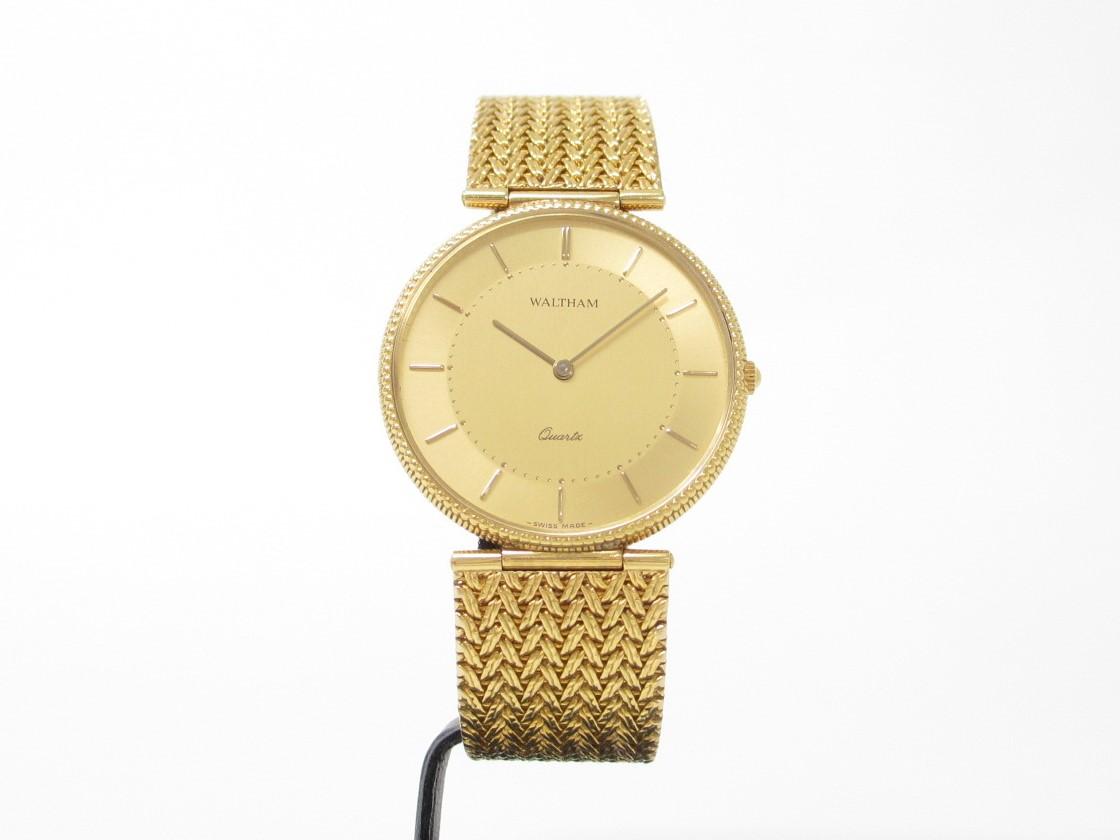 ウォルサム メンズ腕時計 金無垢