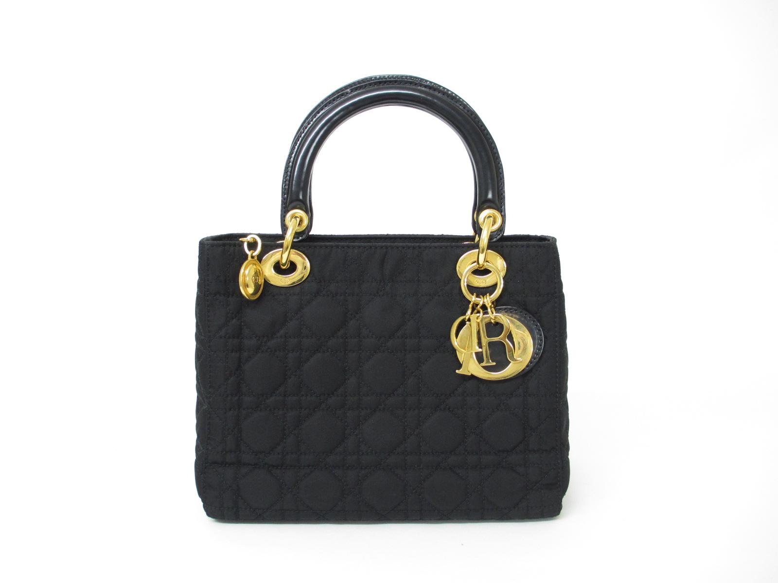 Dior レディディオール ハンドバッグ ナイロン ブラック