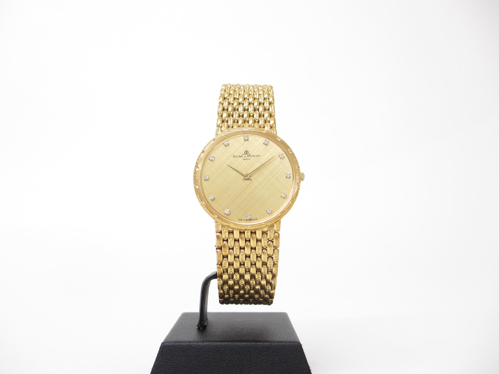 ボーム&メルシエ メンズ腕時計 金無垢 12Pダイヤ