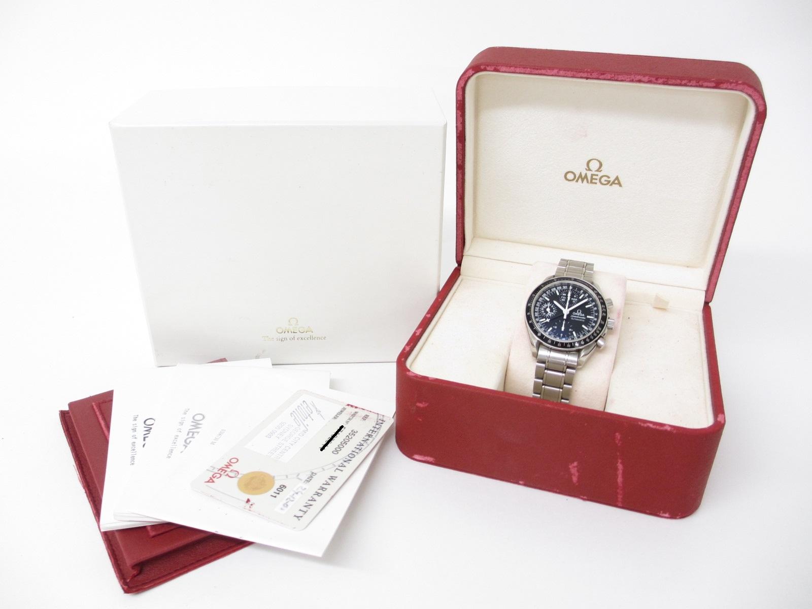 OMEGA オメガ スピードマスター トリプルカレンダー デイデイト マーク40 3520-50 メンズ腕時計