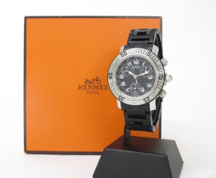HERMES エルメス 腕時計 クリッパーダイバークロノ CL2.315