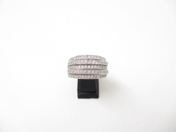 プラチナ(Pt900) 指輪 ダイヤモンドデザインリング 1.34ct 12.0g