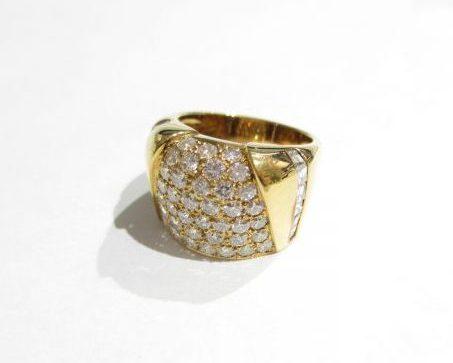 K18イエローゴールド 指輪 ダイヤモンド1.59ct 0.65ct SI1~SI2ランク