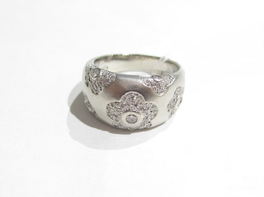 Pt900プラチナ 指輪 ダイヤモンドD/0.50カラット 13.6g SI2~I1ランク