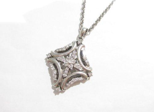 Pt900×Pt850 ネックレス ダイヤモンド1.00カラット SI1~SI2ランク