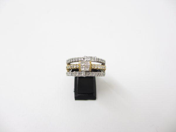 Pt900(プラチナ)×K18YG(イエローゴールド) 指輪 ダイヤ1.10カラット SI2~I2ランク