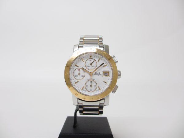 ジラールペルゴ クロノグラフ 7500 メンズ腕時計 SS×YG