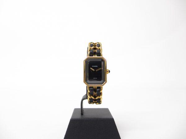 CHANEL シャネル プルミエールM H0001 GP×革ベルト レディース腕時計