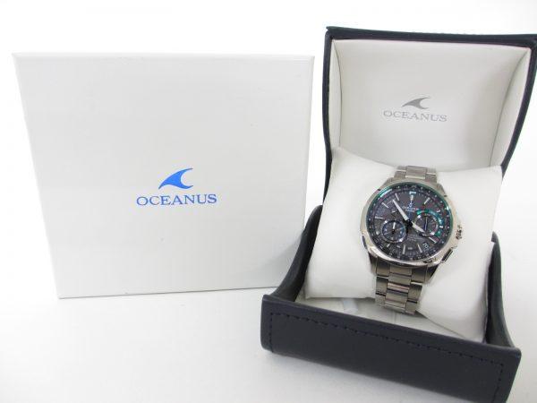 CASIO カシオ オシアナス OCW-G1000-1A2JF チタン 電波ソーラー時計