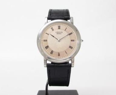 SEIKO セイコー クレドール メンズ腕時計 Pt950プラチナ×革ベルト