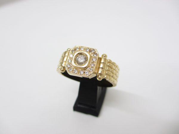 K18イエローゴールド ダイヤモンド(D/0.36カラット) ファッションリング