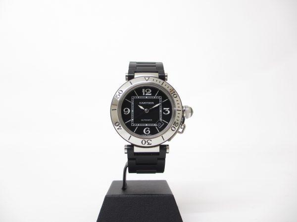 Cartier カルティエ パシャシータイマー Ref.W31077U2 ステンレス×ラバーベルト