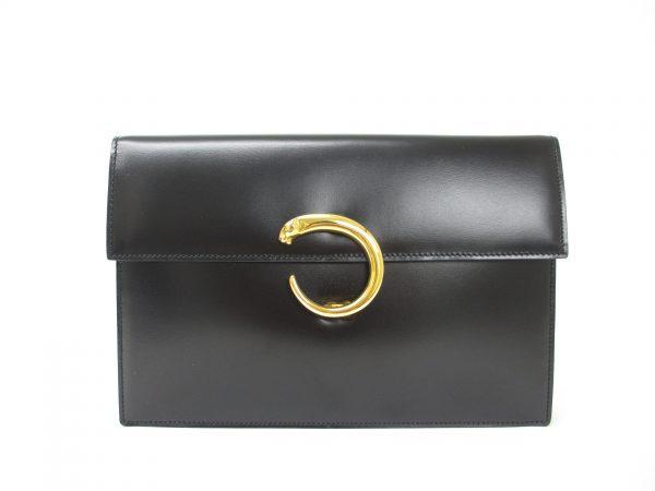 Cartier カルティエ パンテール ハンドバッグ カーフ ブラック