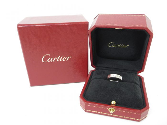 Cartier カルティエ 1Pダイヤモンド ミニラブリング K18ホワイトゴールド