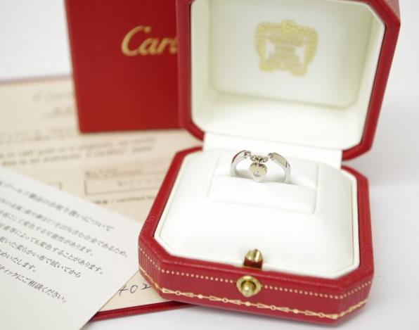 Cartier カルティエ K18ホワイトゴールド モナムールリング 1Pダイヤモンド