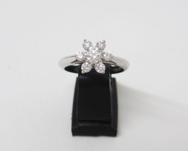 Tiffany ティファニー バターカップ 指輪 Pt950×ダイヤモンド