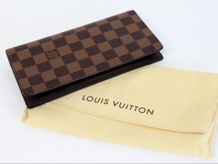 ルイ・ヴィトン ポルトフォイユ ブラザ N60017 メンズ二つ折り長財布