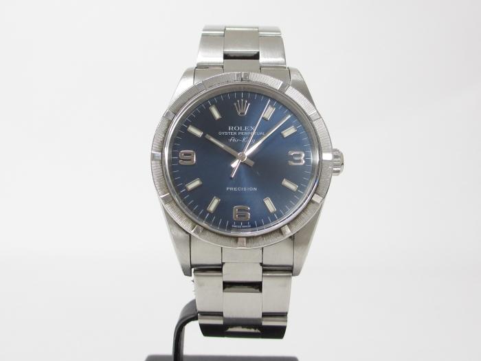 ROLEX ロレックス エアキング Ref.14010 K番 ブルー文字盤(10月限定ロレックス10%UPキャンペーン価格!)