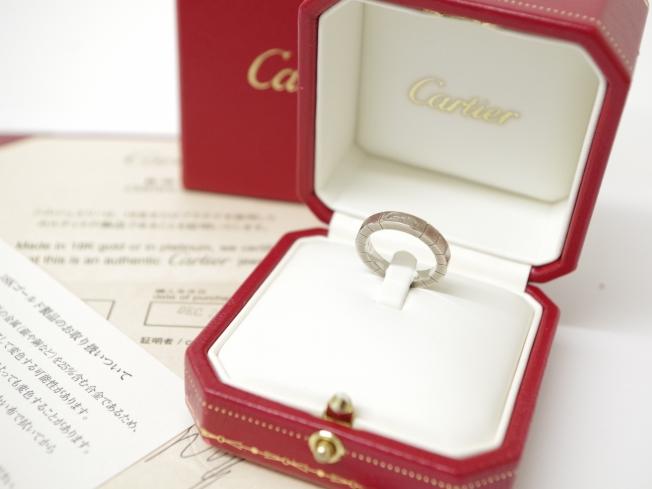 Cartier カルティエ K18ホワイトゴールド ラニエールリング(11月限定4周年記念・10%UPキャンペーン価格!)