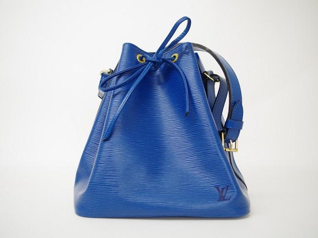 LV ルイヴィトン プチノエ エピ ブルー M44105 巾着型ショルダーバッグ