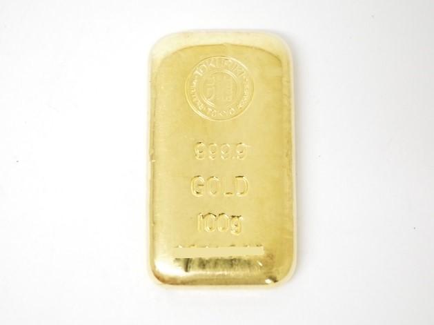 K24インゴットバー 純金製 徳力本店 100.0g(2018年11月時点。買取単価は毎日変動します)
