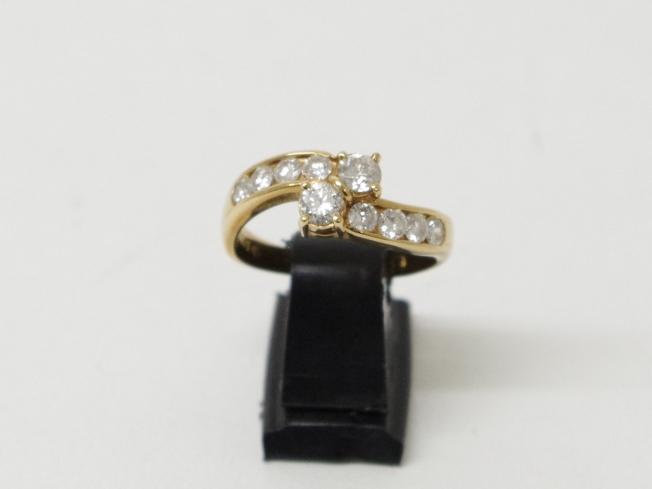 K18イエローゴールド 指輪 ダイヤ D1.00カラット(11月限定4周年記念・10%UPキャンペーン価格!)