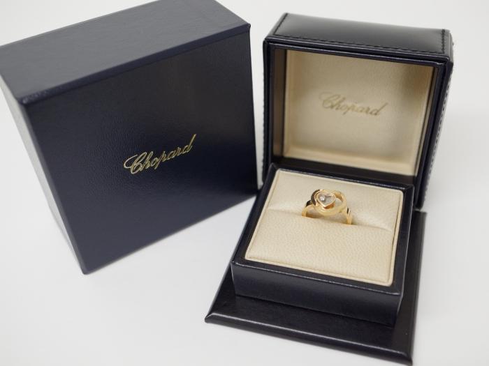 Chopard ショパール K18PG ハッピーダイヤリング 1Pダイヤモンド(12月限定・査定金額5%UPキャンペーン価格!)