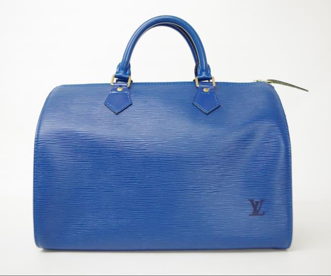 LV ルイヴィトン スピーディ30 エピ ブルー M43005 ミニボストンバッグ