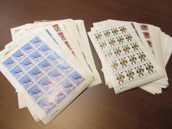 記念切手一式(バラ・シート50円・60円・80円など) ※上限~@80.0%(額面の金額によって換金率は変わります)