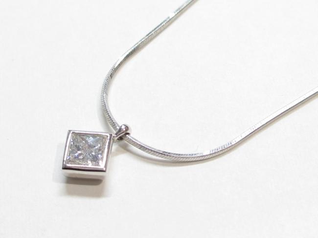 Pt900×Pt850 ダイヤモンドネックレス 6.3g D0.55ct
