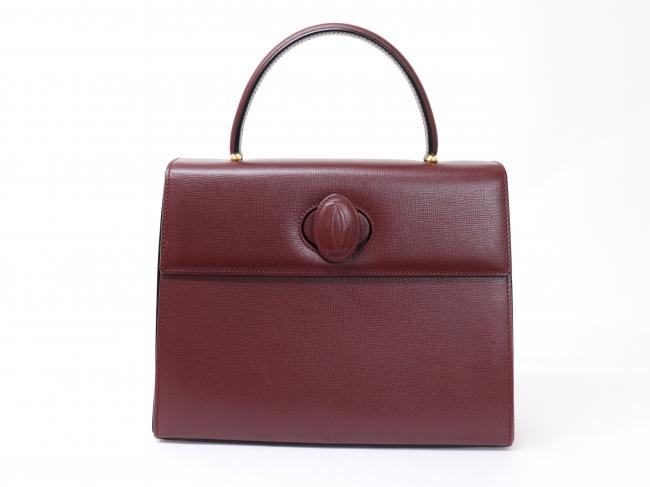 Cartier カルティエ マストライン ハンドバッグ ボルドー