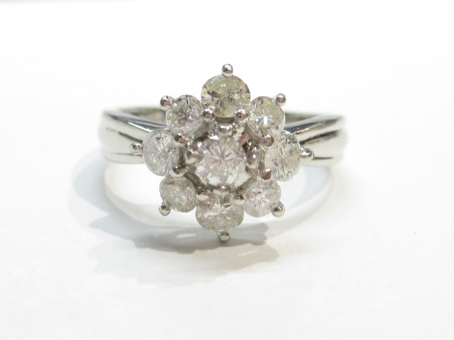 Pt900プラチナ 指輪 ダイヤモンド1.00カラット