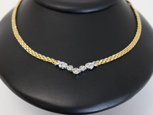 K18/K18WGダイヤモンドネックレス 32.2g