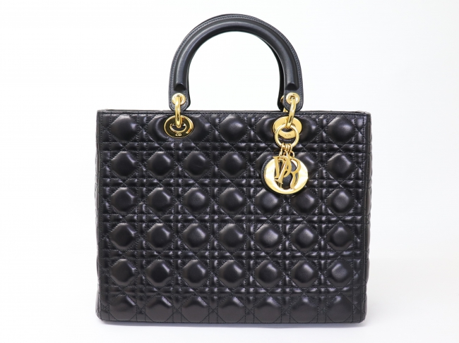 C'Dior レディディオール ラムスキン ブラック
