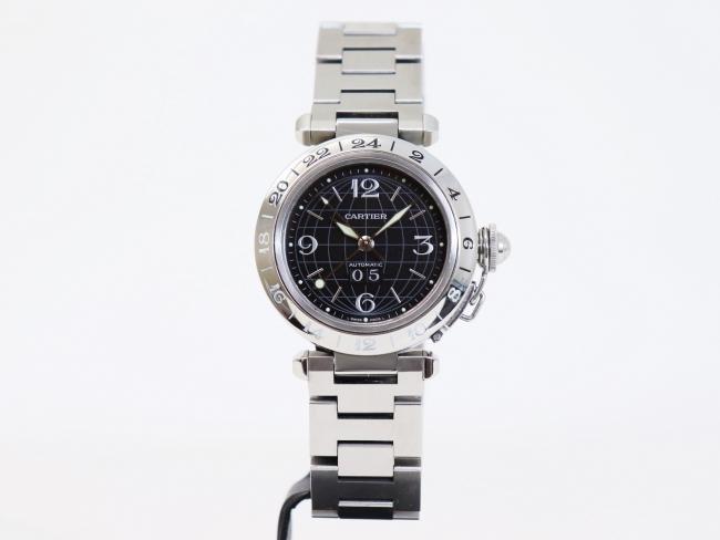 カルティエ パシャC GMTメリディアン W31049M7