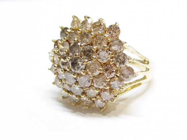 K18YG 指輪 ダイヤモンド3.00カラット 6.2g