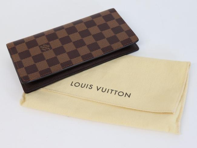 ルイヴィトン N60017 ダミエ ポルトフォイユ・ブラザ