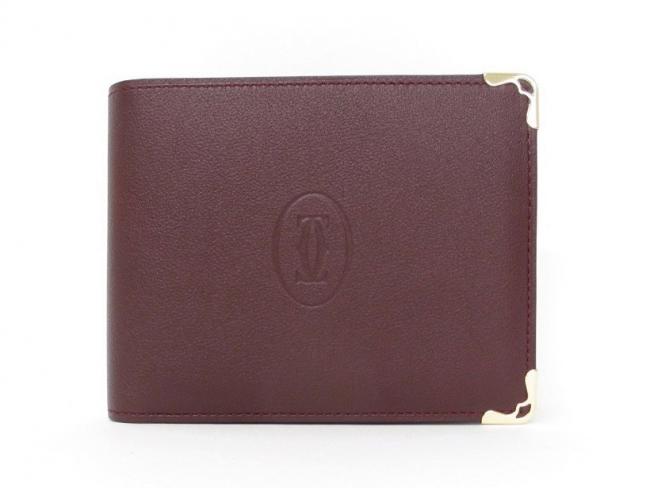 Cartier マスト ドゥ カルティエ 二つ折り財布 ボルドー L3001368