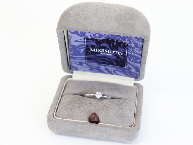 ミキモト Pt950 ウェディングリング ダイヤモンド0.26カラット