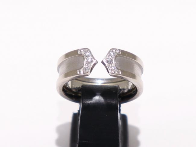 カルティエ K18WG ダイヤモンド C2リング