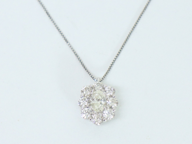 プラチナ(Pt900/Pt850)ネックレス ダイヤモンド 0.74カラット(11月限定・査定金額10%UPキャンペーン価格!)