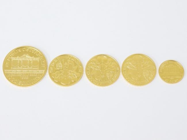 K24IGT(純金) ウィーン金貨ハーモニー 5枚(2020年11月現在。買取価格は毎日変動します)