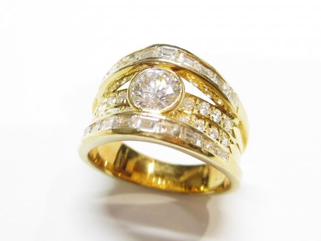 K18YG ダイヤモンド 指輪 D0.508カラット(12月限定・査定金額10%UPキャンペーン価格!)