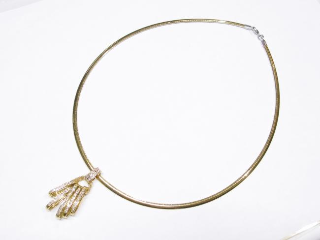 K18YG デザインネックレス ダイヤモンド 1.00カラット(12月限定・査定金額10%UPキャンペーン価格!)